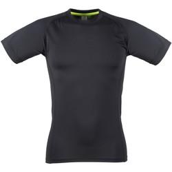 Textiel Heren T-shirts korte mouwen Tombo Teamsport TL515 Zwart / Zwart