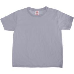 Textiel Kinderen T-shirts korte mouwen Fruit Of The Loom 61015 Heather Grijs