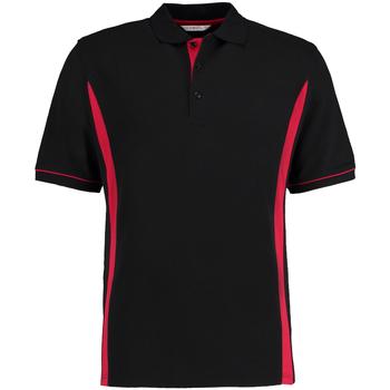 Textiel Heren Polo's korte mouwen Kustom Kit Scottsdale Zwart/Rood