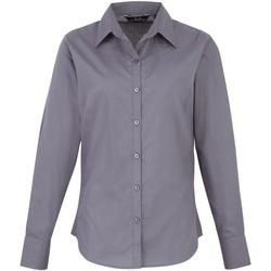 Textiel Dames Overhemden Premier PR300 Staal