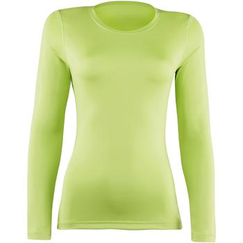 Textiel Dames T-shirts met lange mouwen Rhino RH003 Kalk