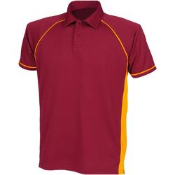 Textiel Kinderen Polo's korte mouwen Finden & Hales LV372 Marron/ Amber/ Amber