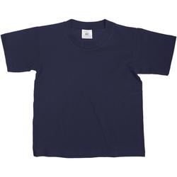 Textiel Kinderen T-shirts korte mouwen B And C TK300 Marineblauw