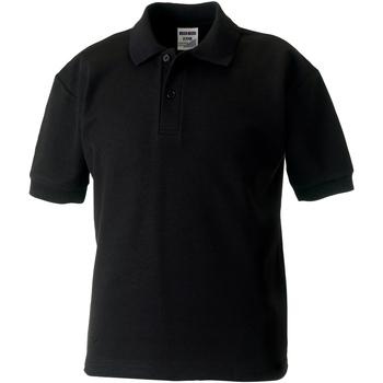Textiel Jongens Polo's korte mouwen Jerzees Schoolgear 65/35 Zwart