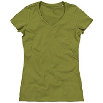 Textiel Dames T-shirts korte mouwen Stedman Stars Janet Groen