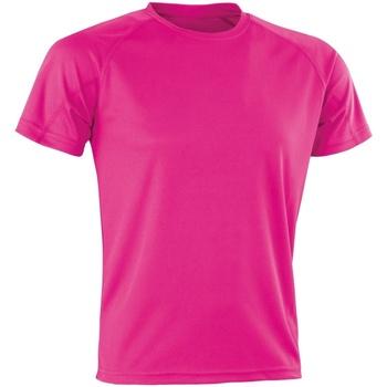 Textiel T-shirts korte mouwen Spiro Aircool Flo Roze