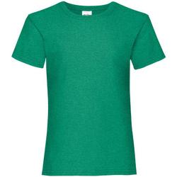 Textiel Meisjes T-shirts korte mouwen Fruit Of The Loom 61005 Kelly Groen
