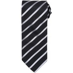 Textiel Heren Stropdassen en accessoires Premier Formal Zwart / Zilver