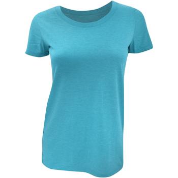 Textiel Dames T-shirts korte mouwen Bella + Canvas BE8413 Aqua Triblend