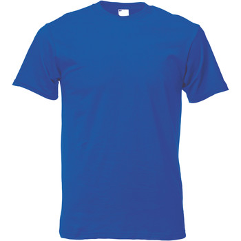 Textiel Heren T-shirts korte mouwen Universal Textiles 61082 Kobalt