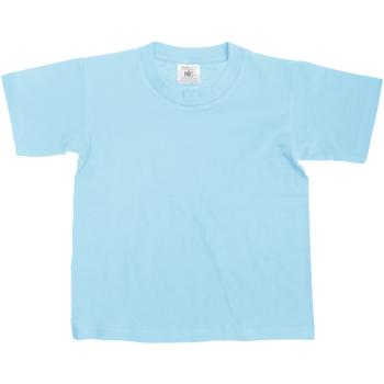 Textiel Kinderen T-shirts korte mouwen B And C TK300 Hemelsblauw