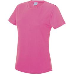Textiel Dames T-shirts korte mouwen Awdis JC005 Elektrisch Roze