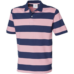 Textiel Heren Polo's korte mouwen Front Row FR210 Marine / Roze