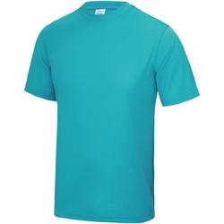 Textiel Heren T-shirts korte mouwen Awdis JC001 Hawaiiaans Blauw