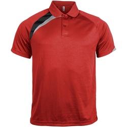 Textiel Heren Polo's korte mouwen Kariban Proact PA457 Rood/ Zwart/ Stormgrijs