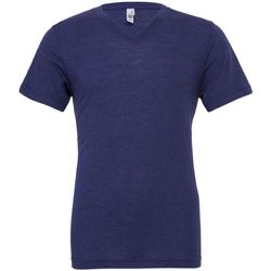 Textiel Heren T-shirts korte mouwen Bella + Canvas CA3415 Marine Triblend