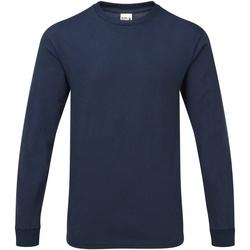 Textiel Heren T-shirts met lange mouwen Gildan H400 Sport Dark Navy