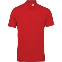 Textiel Heren Polo's korte mouwen Tridri TR012 Vuurrood