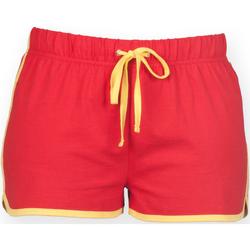 Textiel Dames Korte broeken / Bermuda's Skinni Fit SK069 Rood/Geel