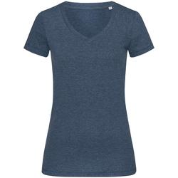 Textiel Dames T-shirts korte mouwen Stedman Stars  Marine Heide
