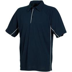 Textiel Heren Polo's korte mouwen Tombo Teamsport TL065 Navy/Navy/White leidingen