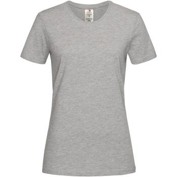 Textiel Dames T-shirts korte mouwen Stedman  Heide Grijs