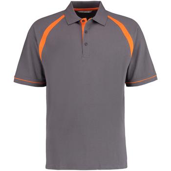 Textiel Heren Polo's korte mouwen Kustom Kit KK615 Houtskool/Oranje