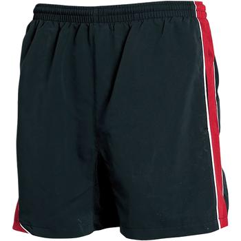 Textiel Heren Korte broeken / Bermuda's Tombo Teamsport TL081 Zwart/rood/witte leidingen