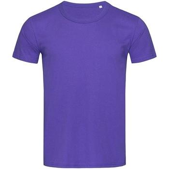 Textiel Heren T-shirts korte mouwen Stedman Stars Stars Paars