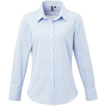 Textiel Dames Overhemden Premier PR320 Lichtblauw/Wit