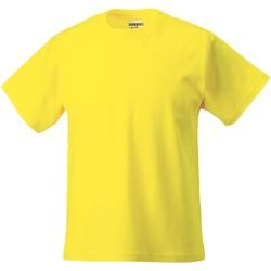 Textiel Kinderen T-shirts korte mouwen Jerzees Schoolgear ZT180B Geel