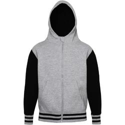Textiel Kinderen Sweaters / Sweatshirts Awdis JH51J Heide Grijs / Jet Zwart