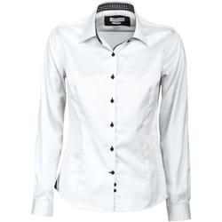 Textiel Dames Overhemden J Harvest & Frost JF006 Wit/zwart