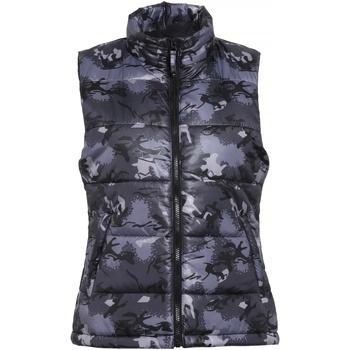 Textiel Dames Dons gevoerde jassen 2786 TS15F Camo Grijs