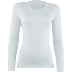 Textiel Dames T-shirts met lange mouwen Rhino RH003 Wit