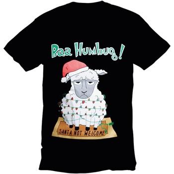 Textiel Heren T-shirts korte mouwen Christmas Shop 178642 Zwarte Bah Humbug