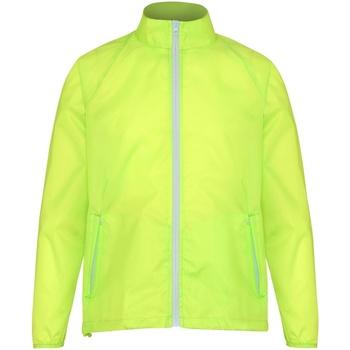 Textiel Heren Windjack 2786  Geel/wit