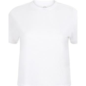 Textiel Dames T-shirts korte mouwen Skinni Fit Cropped Boxy Wit
