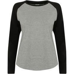 Textiel Kinderen T-shirts met lange mouwen Skinni Fit SM271 Heide Grijs / Zwart