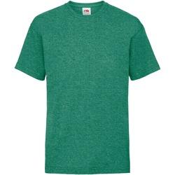 Textiel Kinderen T-shirts korte mouwen Fruit Of The Loom 61033 Retro Heather Groen