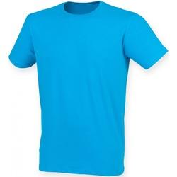 Textiel Heren T-shirts korte mouwen Skinni Fit SF121 Saffier