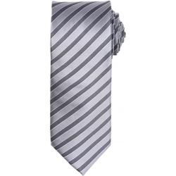 Textiel Heren Stropdassen en accessoires Premier PR782 Zilver/Donkergrijs