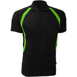 Textiel Heren Polo's korte mouwen Gamegear Riviera Zwart/Florescent Lime