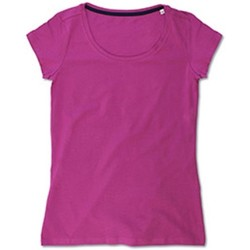 Textiel Dames T-shirts korte mouwen Stedman Stars  Cupcake Roze