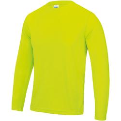 Textiel Heren T-shirts met lange mouwen Awdis JC002 Elektrisch Geel