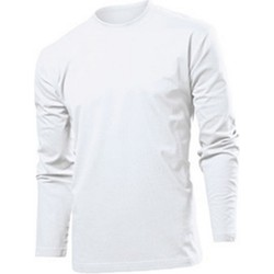 Textiel Heren T-shirts met lange mouwen Stedman  Wit