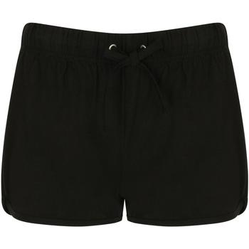 Textiel Dames Korte broeken / Bermuda's Skinni Fit SK069 Zwart