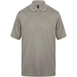 Textiel Heren Polo's korte mouwen Henbury HB475 Heide Grijs