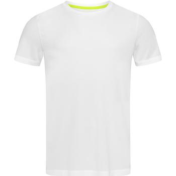 Textiel Heren T-shirts korte mouwen Stedman Mesh Wit