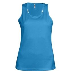 Textiel Dames Mouwloze tops Kariban Proact Proact Aqua Blauw